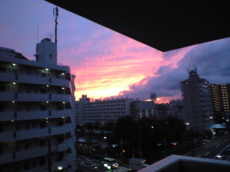 すごい夕日