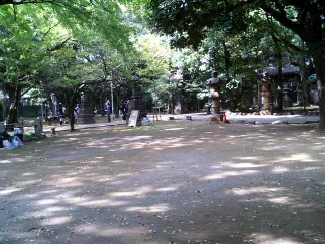 氷川神社で
